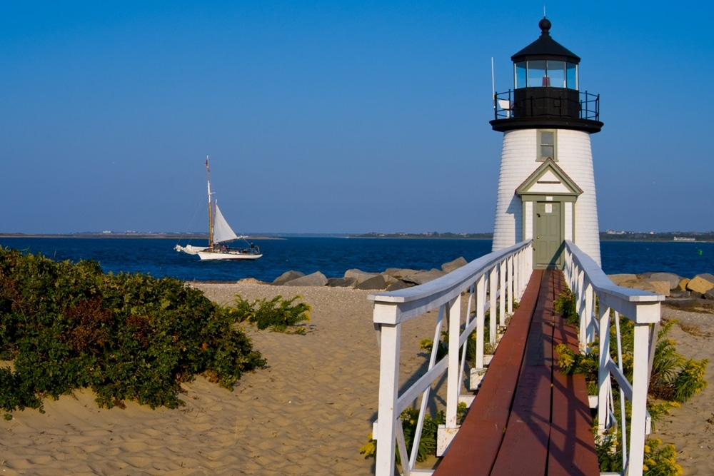 Brant Point Light in Nantucket, Massachusetts